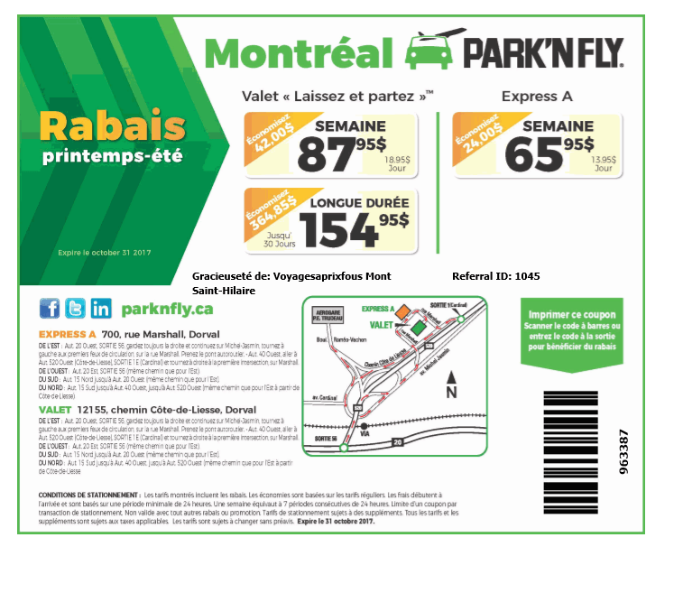 park n fly printable coupons park and fly rabais voyage voyages a prix fous 1 844 23899 | park n fly fr